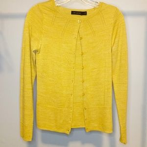 The Limited Button Front Cardigan XS Mustard